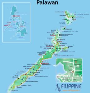 Dove si trova Palawan